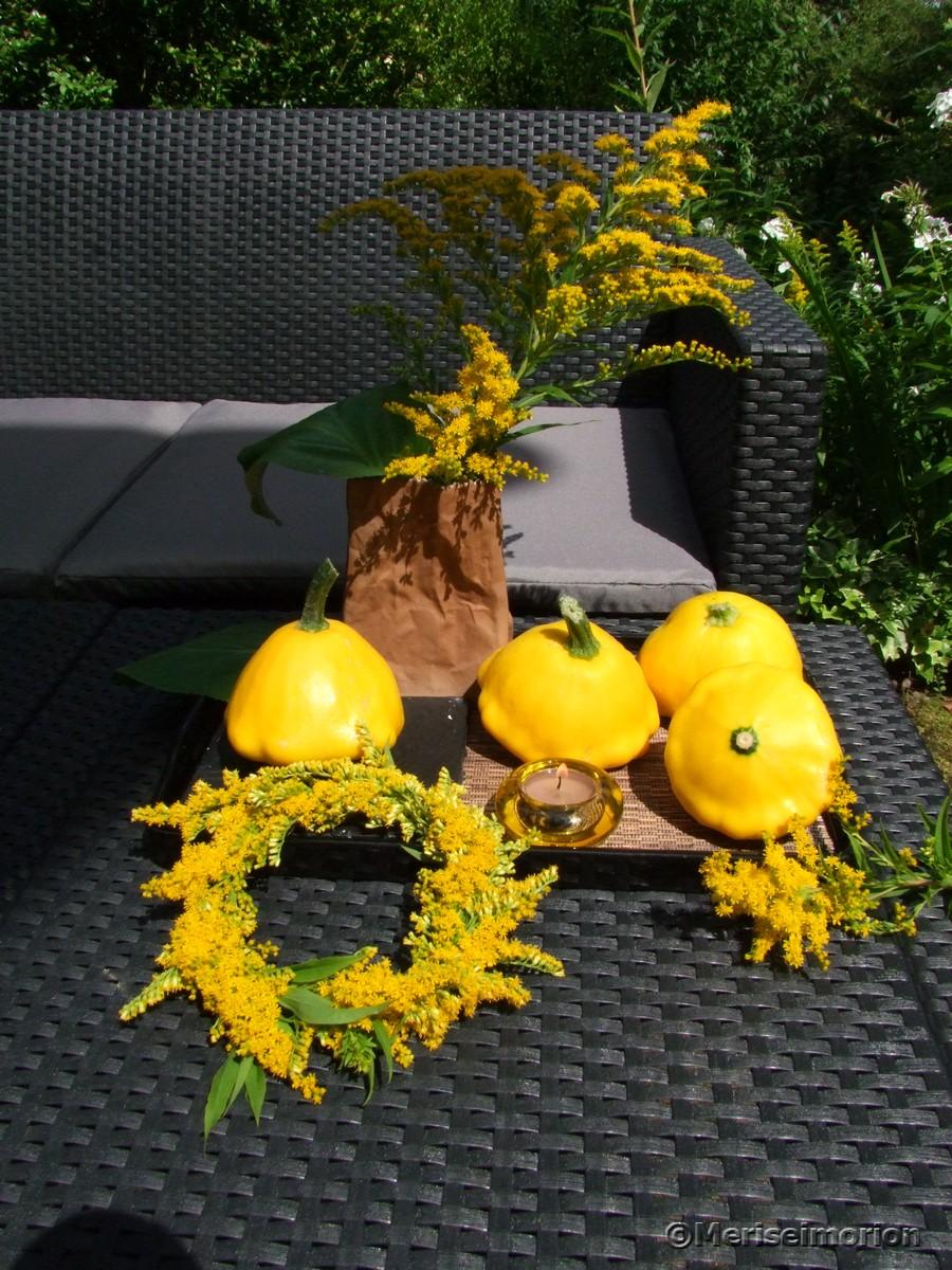 Patisson Zucchini Sommerdeko