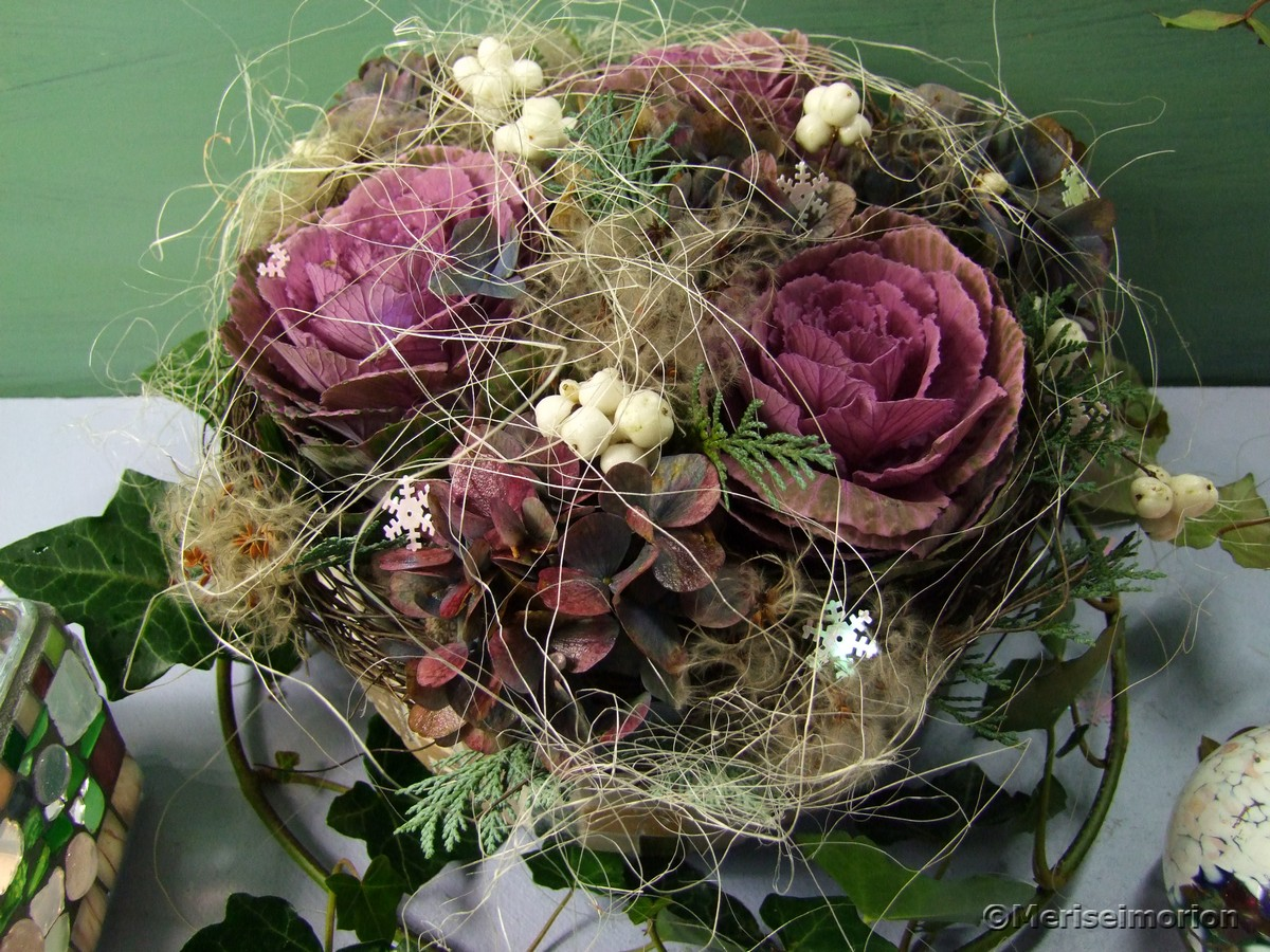 Rosa Herbstdeko