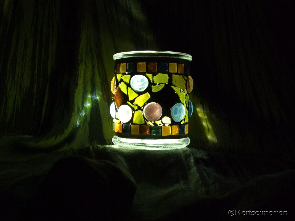 Mosaik Windlichter selbermachen
