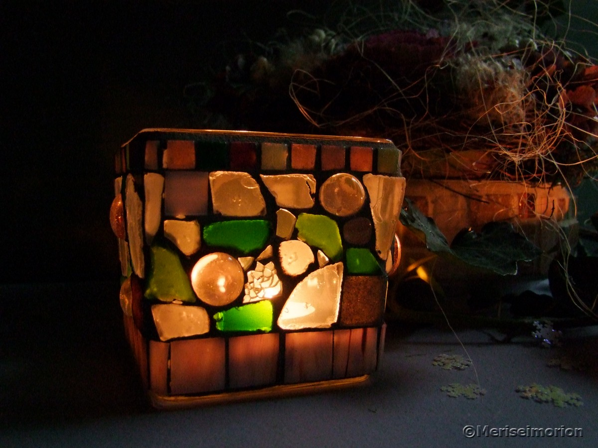Mosaik Windlichter basteln