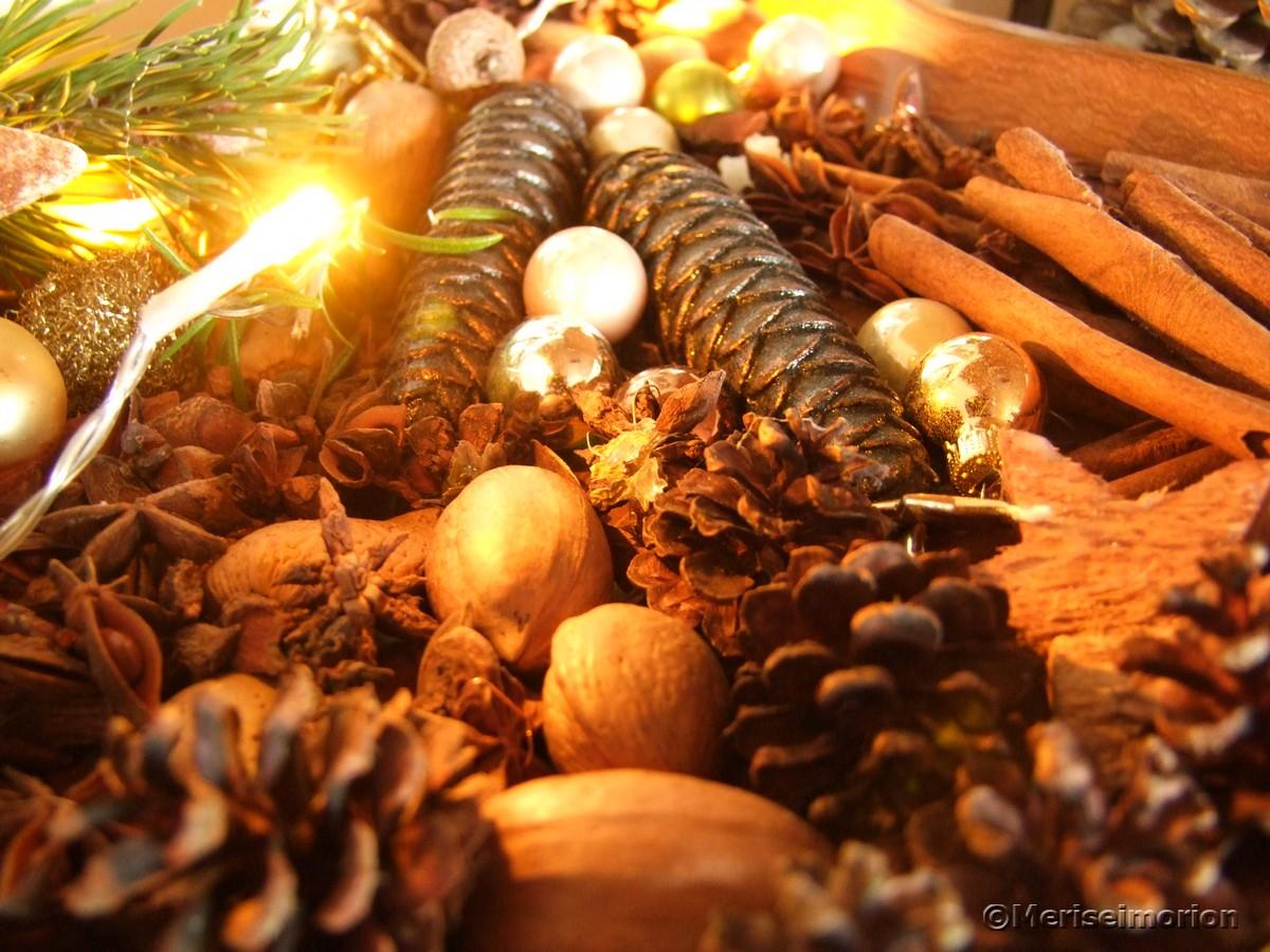 Weihnachtsschale mit Zapfen
