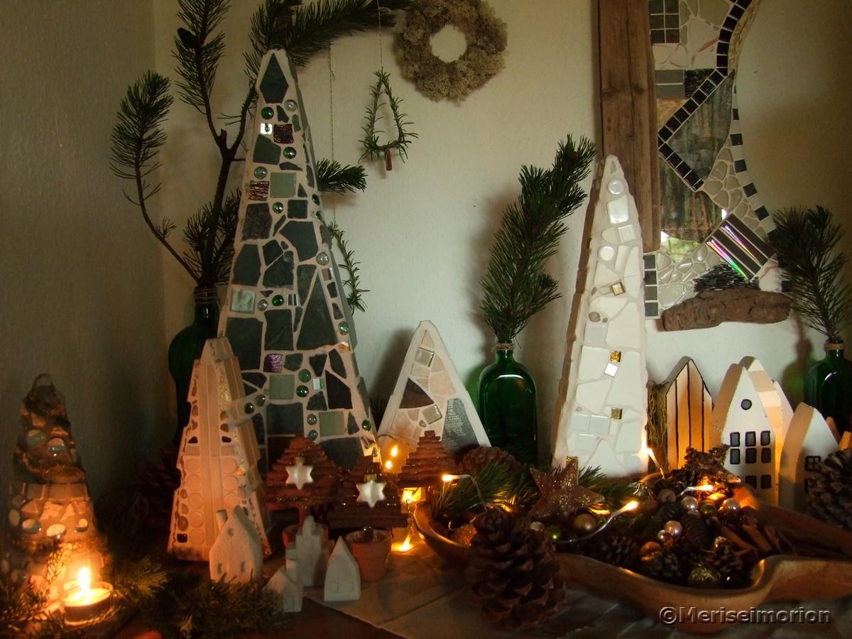Weihnachtswald Deko selbstgemacht