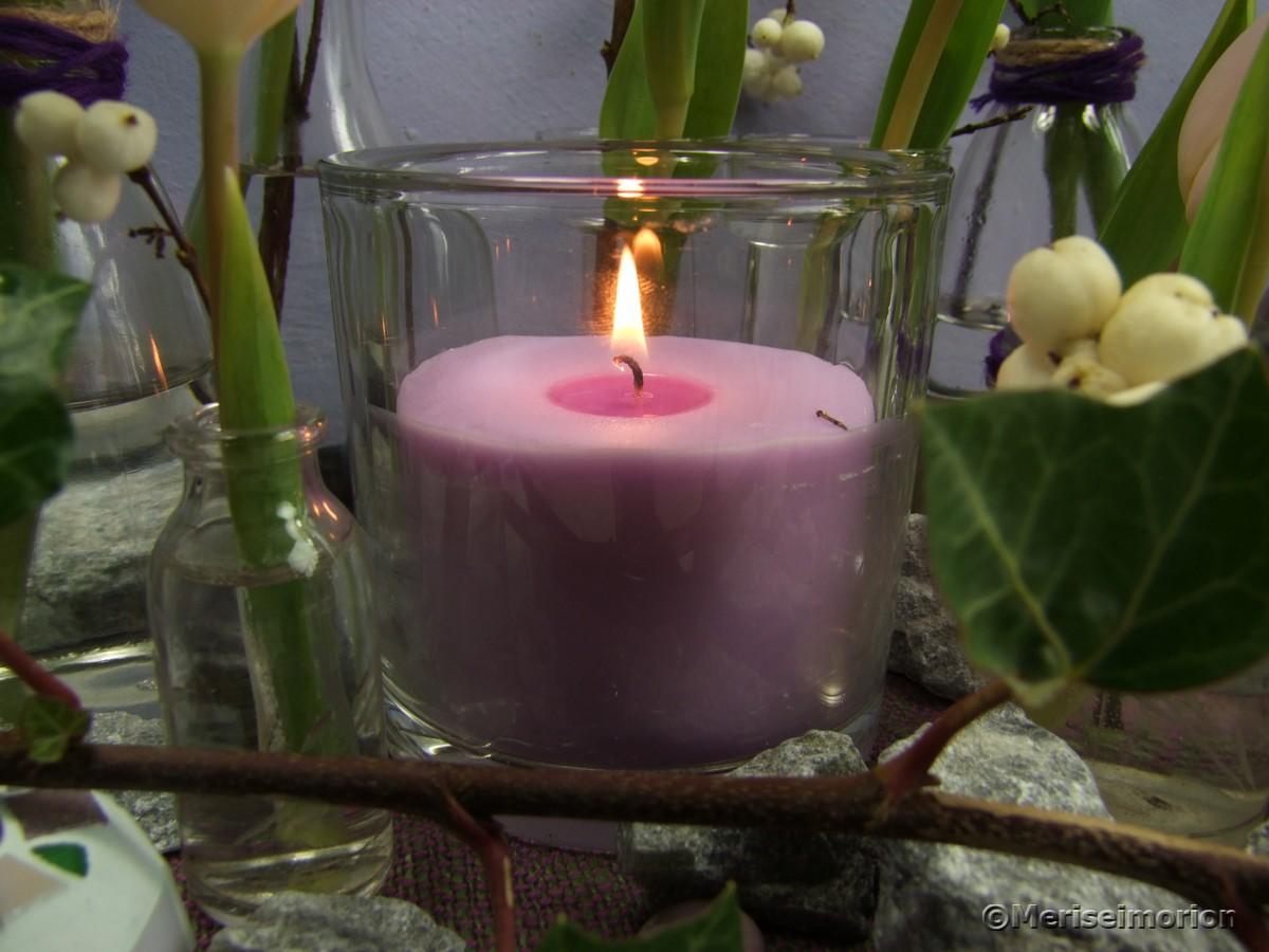 Kerzen mit Lavendelduft