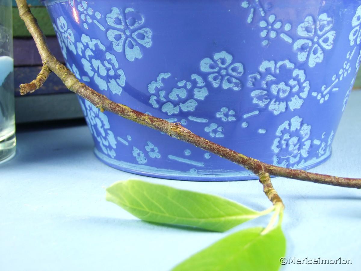 Blaue Tischdeko mit Hyazinthen