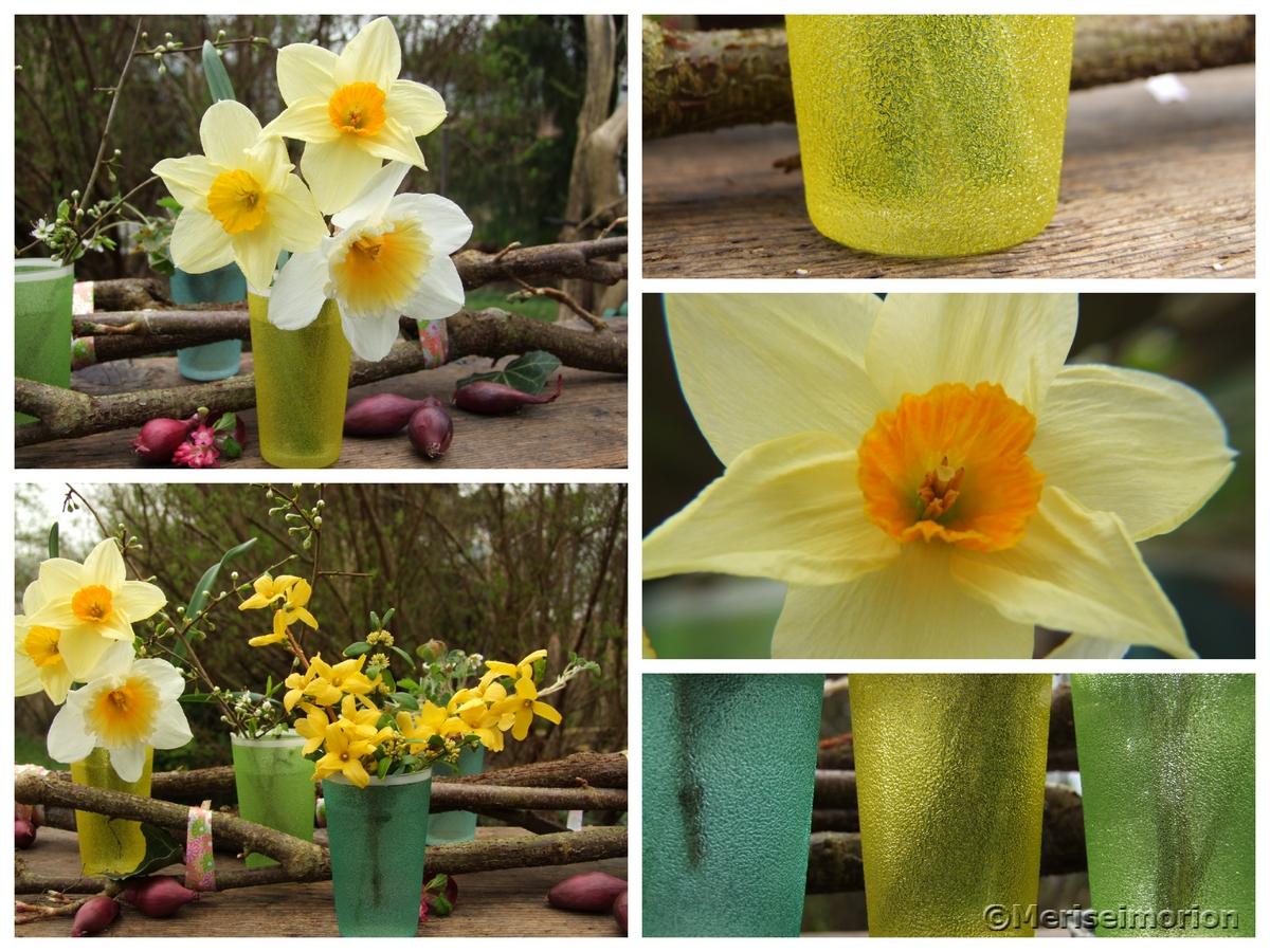 gelbe Tischdeko Frühling