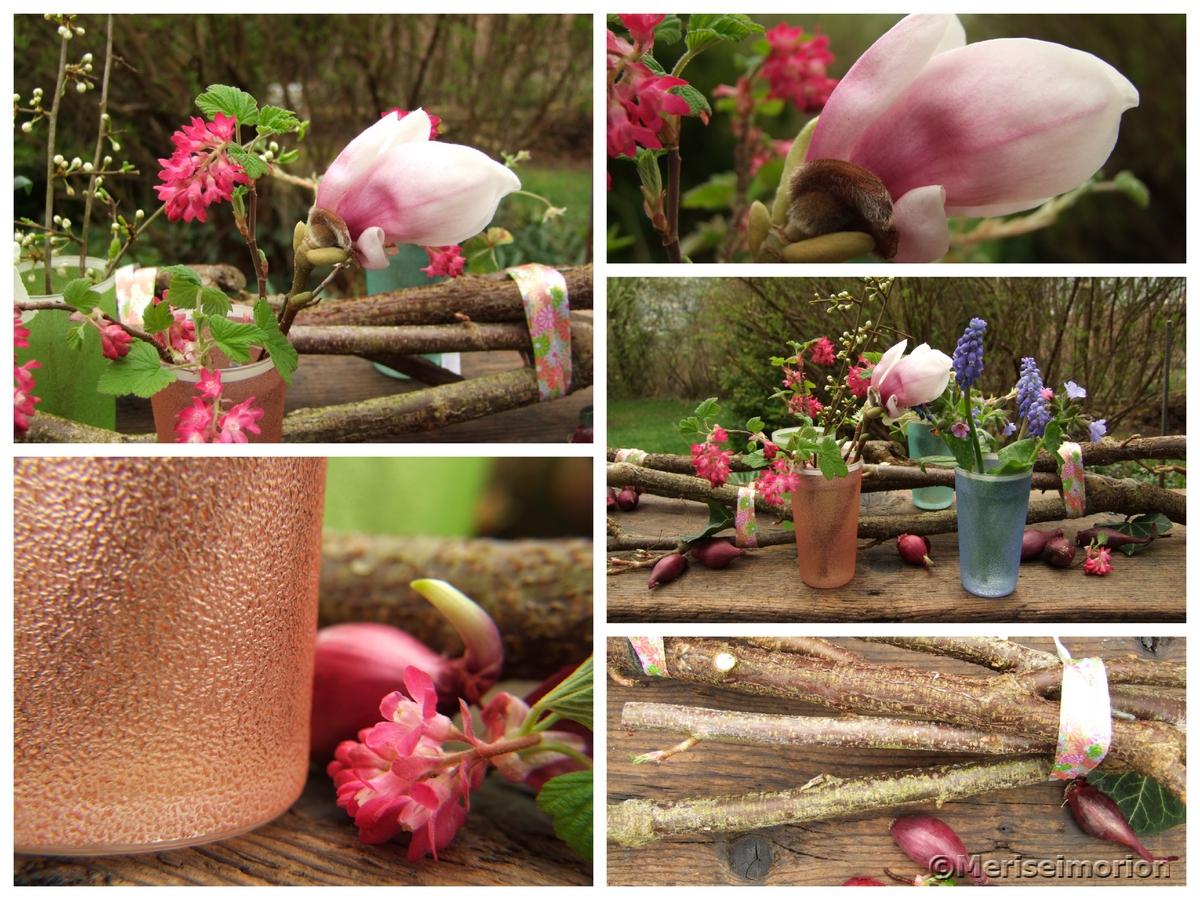 rosa Frühlingsdeko