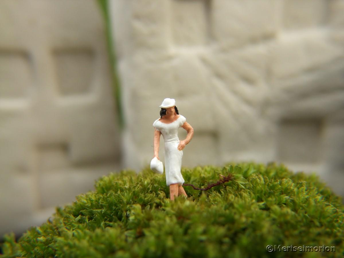 Makroaufnahmen Miniaturfiguren