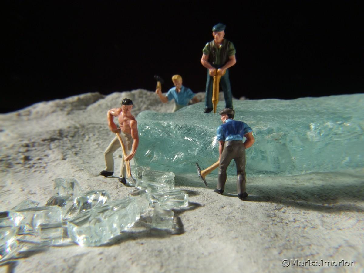 Miniaturfiguren Makrofotografie
