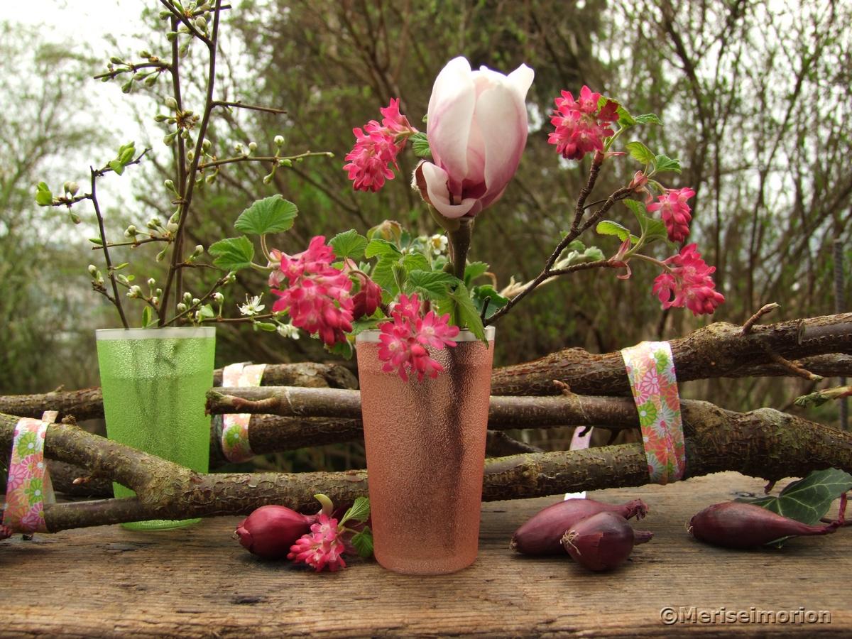 Deko Frühling rosa