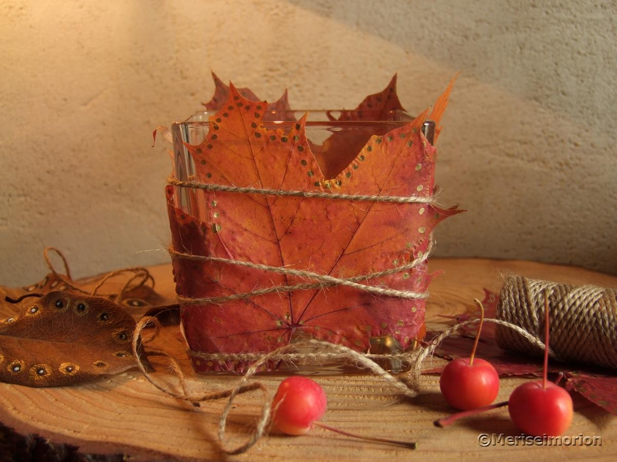 Herbstliches Windlicht