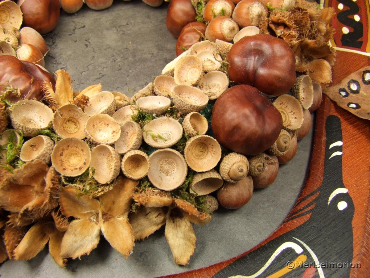 Basteln mit Eicheln und Kastanien