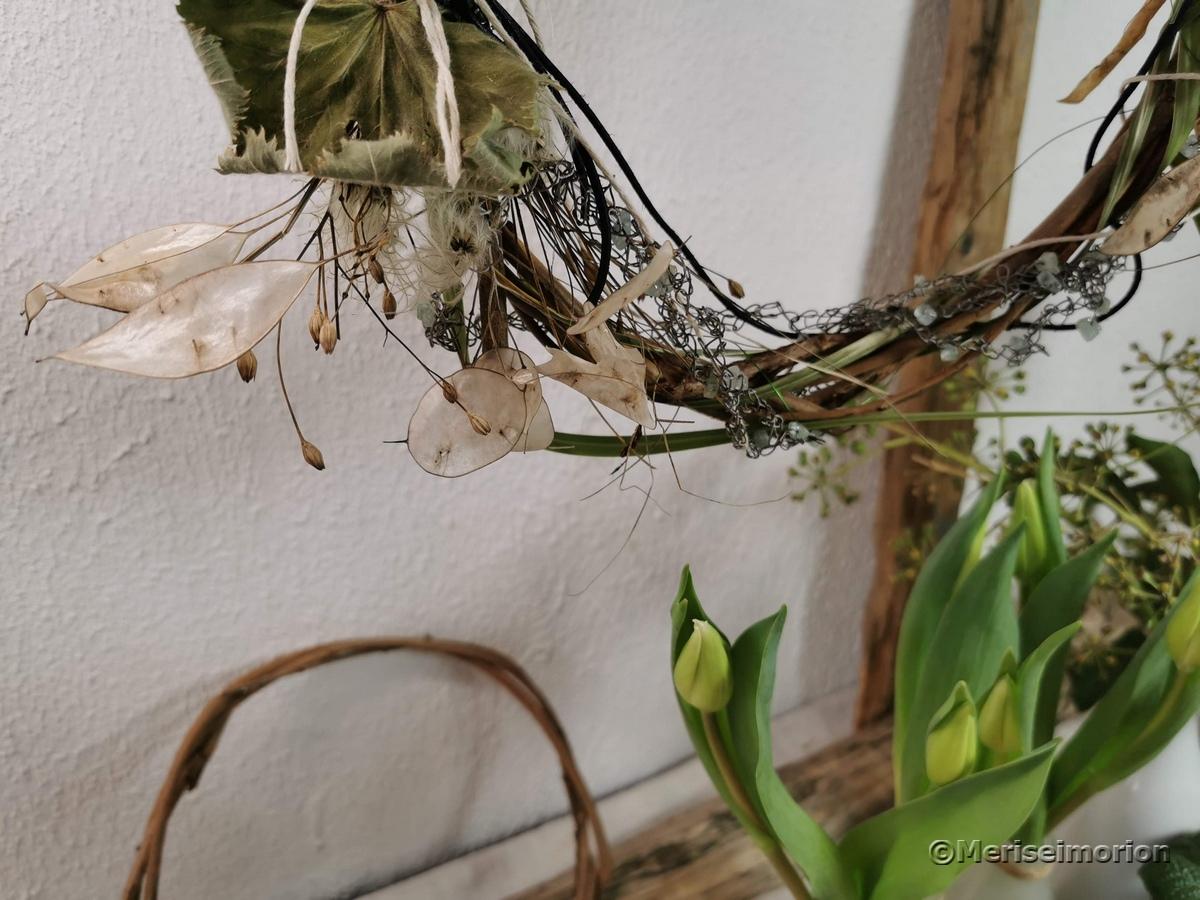Trockenblumen Kranz